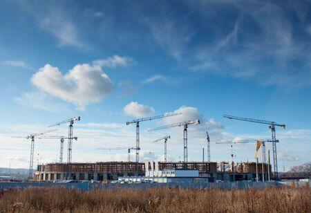 constraction: Building site of the Baltic Arena, football stadium - Gdansk, Poland Stock Photo