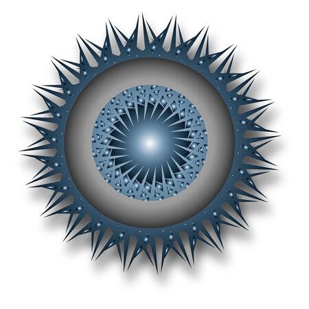 futuristic eye: Logo - 3d blue eye design