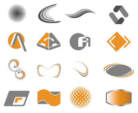 crescent: Set of design elements for your business or corporate identity