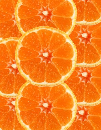 Sliced orange as a background photo