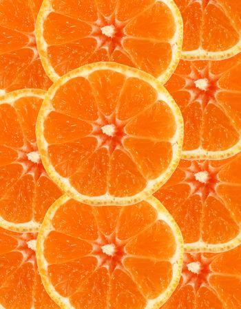 Sliced orange as a background photo