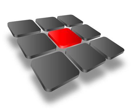 red cube: Logo - cubi 3d, logo dinamico per il vostro business.