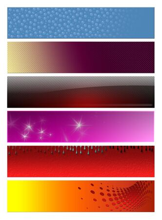 Blank, abstract  banners, headers six projects Stock Photo - 6118514