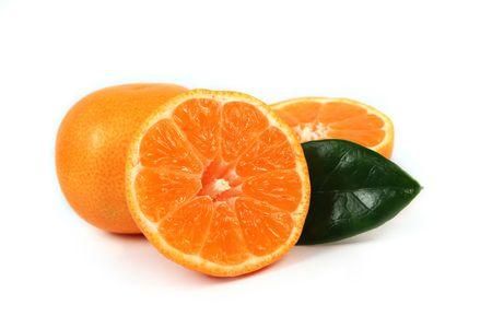 Sliced orange composition isolated on white Stock Photo - 6118500