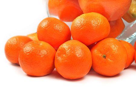 Fresh isolated tangerine close up Stock Photo - 6154270