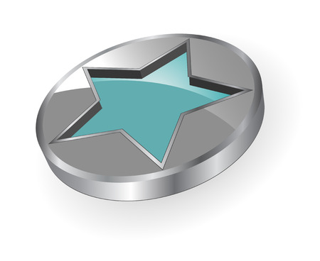 innovative: 3D logo - silver and metallic star - dynamic modern logo Illustration