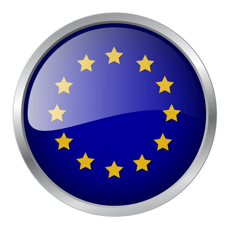 Europe flag emblem, illustration Vector