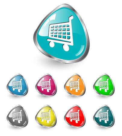 gree: Shopping cart icon multicolored set