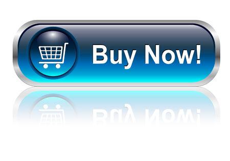 Carrello, icona pulsante acquista, blu lucido con ombra, vector  Vettoriali