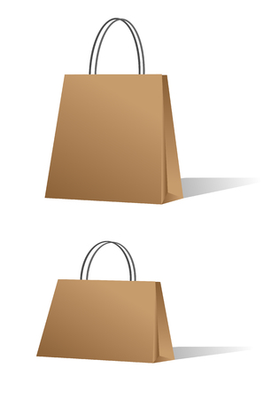Paper sale shopping bags, vector illustration. Vector