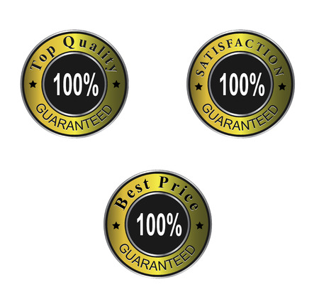 best price and satisfaction guaranteed labels, certificate. Vector