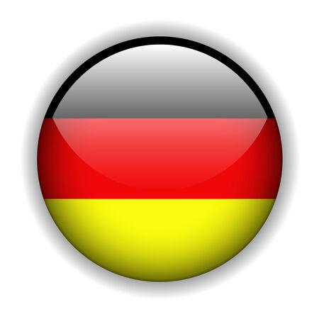 patriots: German flag glossy button, vector Illustration