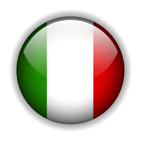 Italian flag button, vector Vector