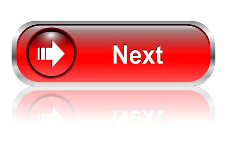 összekapcsol: Next  button, icon red glossy with shadow