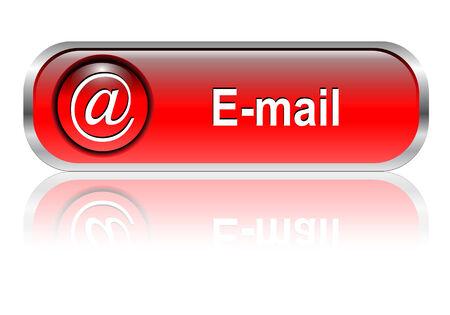 tool icon: Posta, e-mail icona, pulsante rosso lucido con ombra
