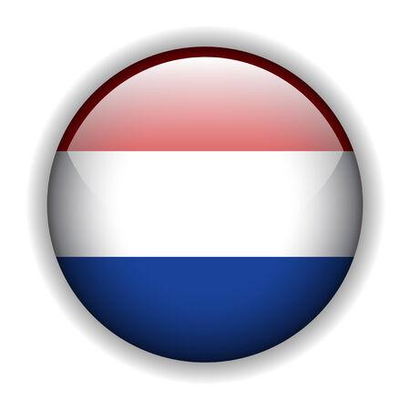 holanda bandera: Bandera de bot�n brillante de Holanda