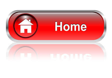 Home icon, button,red glossy with shadow Vector