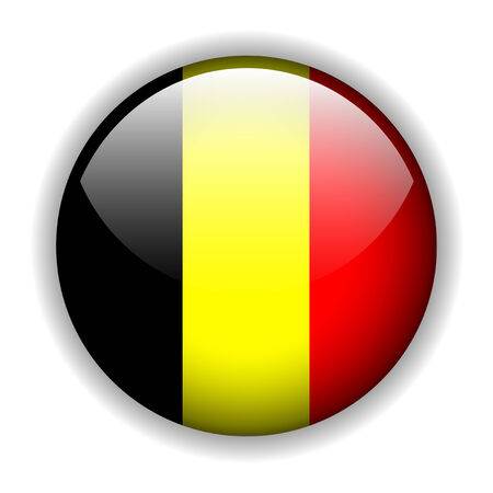 The national flag of Belgium - Belgian flag. glossy button Stock Vector - 6425739