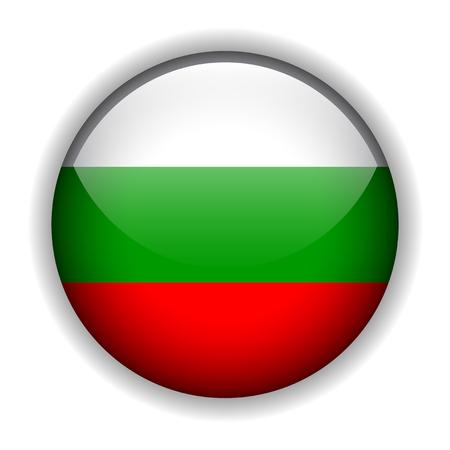 National flag of Bulgaria - Bulgarian flag, glossy button 向量圖像