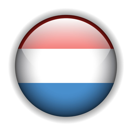 luxembourg: National flag of Luxembourg, glossy button