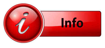 button art: information, info icon button, red glossy. Illustration