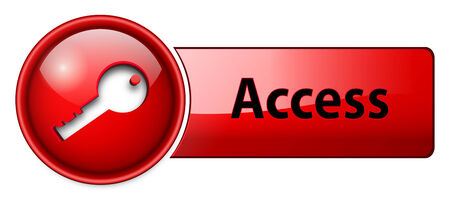access, enter icon button, red glossy. Vector