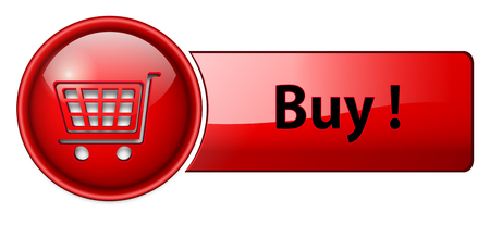 buy icon, button, red glossy. Vector