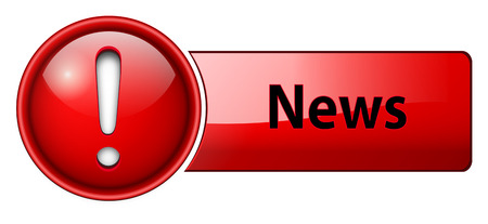 News icon, button, red glossy. Stock Vector - 6470720