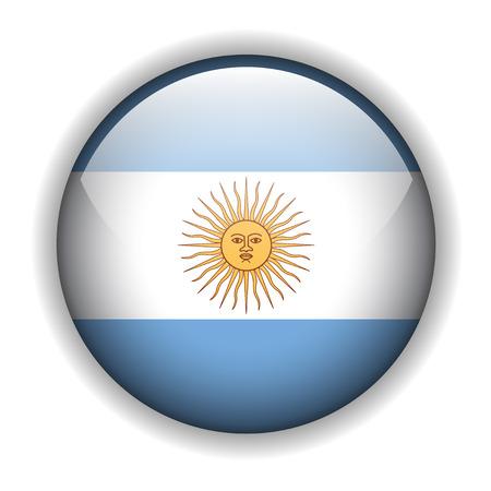 flag of argentina: Bandera de Argentina, bot�n brillante