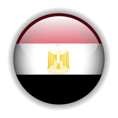 flag of egypt: Bandera de Egipto, bot�n brillante