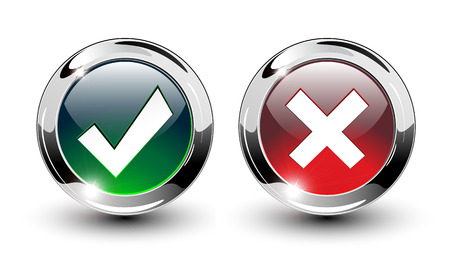 cancel: Glossy Tick &amp, Cross Sign Buttons, icons