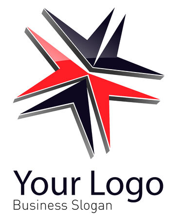 perpective: Logo, abstract dynamic shape black and red, perfect as your business logo.