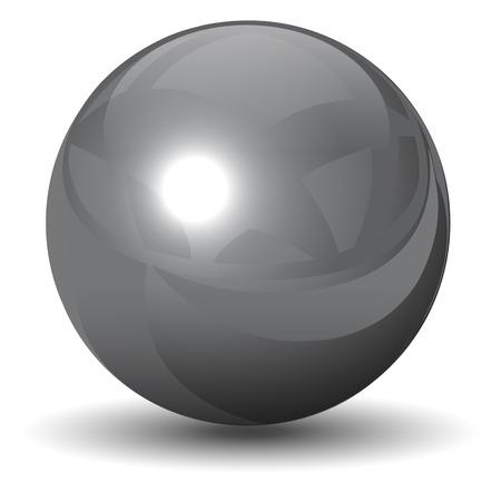 metalen chroom bol, bal glanzend en glanzend.
