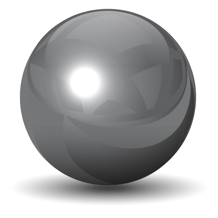 steel balls: metallic chrome sphere, ball glossy and shining.