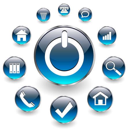 directorio telefonico: Iconos de Web para negocios y Oficina azul aqua