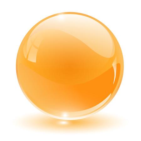 3D crystal, glass sphere,  illustration. Stock Vector - 6596372