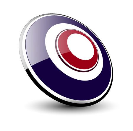 elipsy: Logo 3d elipsy, niebieski i czerwony