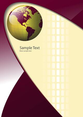business background, elegant with world globe Stock Vector - 6682459