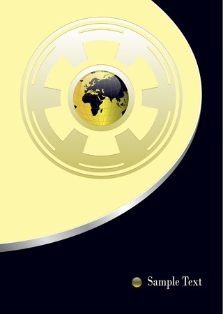 business  background with world globe, . Vector