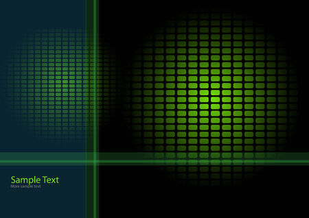 Abstract background black and green, vector illustration. Vector