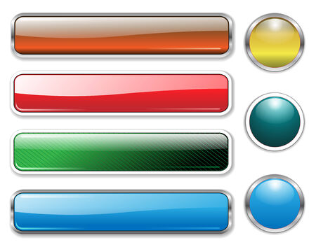 Banners, headers multicolored set Stock Vector - 6729821