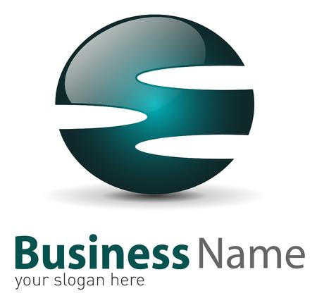 Logo 3d abstract glossy shape Stock Vector - 6729832