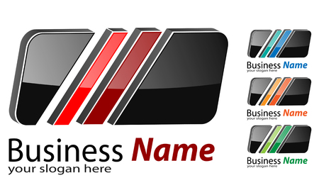 icons logo: Logo 3d quadratisch, mehrfarbiger Business-Logo-Projekt.