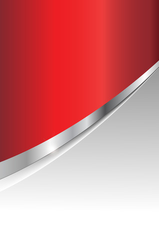 Business background silver metallic and red Vector