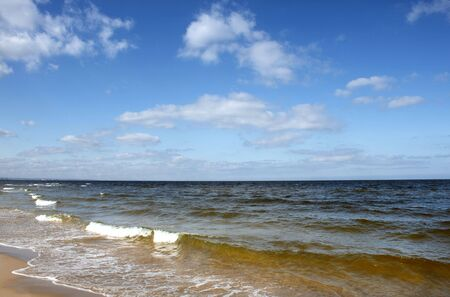 Baltic seascape with with blue summer sky. photo