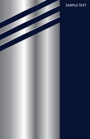 papier en t�te: Entreprise �l�gant fond argent m�tallique sur bleu fonc�