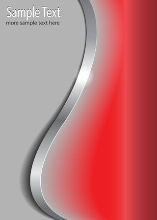 Stylish background silver, grey and red Stock Vector - 6787274