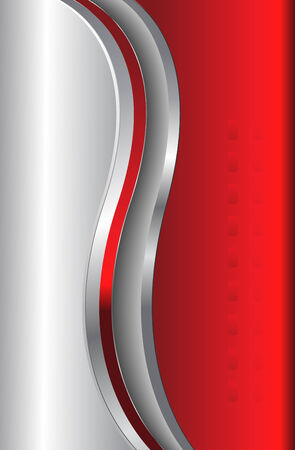 abstract background silver metallic and red, stylish and elegance Stock Vector - 6787292