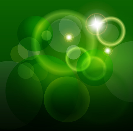abstract background green and magic lights Vector