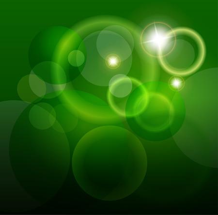 abstraer las luces verde y magia de fondo